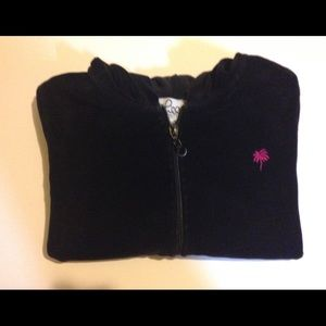 Lilly Pulitzer black velour sweat jacket size 14